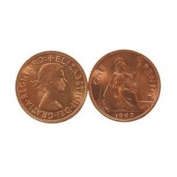 English Penny - Copper coin.