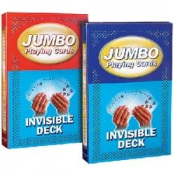 Mazzo di carte jumbo - Invisibile