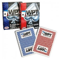 WPT - DIAMOND BACK POKER DECK dorso rosso o blu