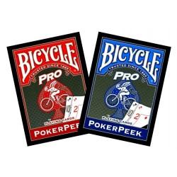 BICYCLE - PRO Dorso rosso o blu