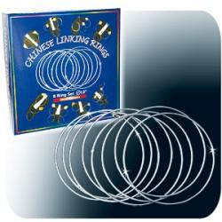 Anelli cinesi - In metallo cromato - Diametro cm 30