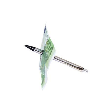 Penna attraverso banconota