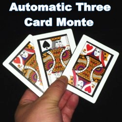 Automatic Three Card Monte (Poker Size,8.8x6.4cm)