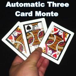 Automatic Three Card Monte (Poker Size,8.8x6.4cm)