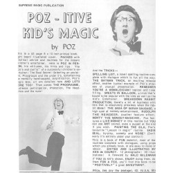 Poz-itive Kid's Magic by Poz Printed by Supreme