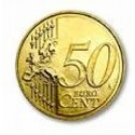 Expanded shell coin - 50 cents Euro