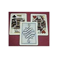 Three Card Monte Jumbo plastic cards by Astor