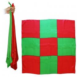 Sitta Chessboard Blendo - Rosso e verde - Cm 90 x 90