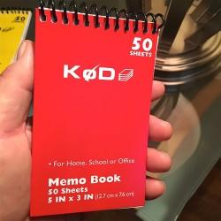 SvenPad® KøD Memo Pad (copertina rossa)